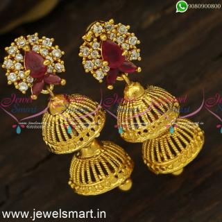 J24416 Step by Step Umbrella Gold Covering Jimikki Kammal Artificial Jewellery