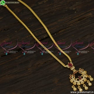Stone Attigai Kodi Chain With Pendant Gold Covering Jewellery Online CS23551