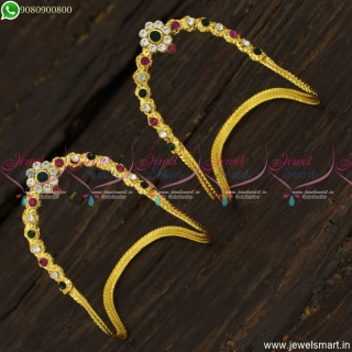Stone Vanki For Kids and Girls Low Price Gold Plated Jewellery Designs Online V23436