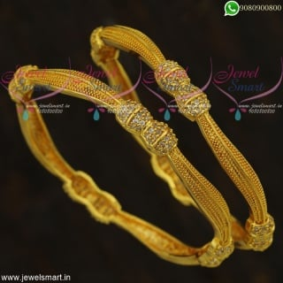 Stylish Bangles Gold Plated Set New Design Imitation Jewellery Online Collections