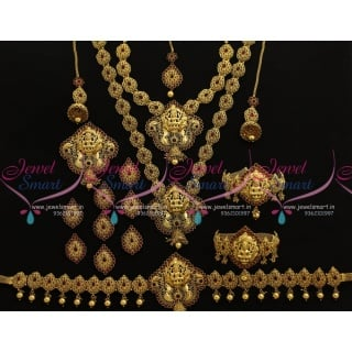 BR7786 Antique Nagas South Indian Traditional Full Bridal Imitation Jewellery Collections