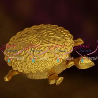 S9588 Tortoise Shape Double Compartment Kumkum Box Sindoor Nakshi One Gram Online