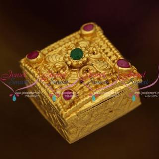 S0025 Nakshi Handmade Small Size Sindoor Box Kumkam Barina Buy Online Gold Plated