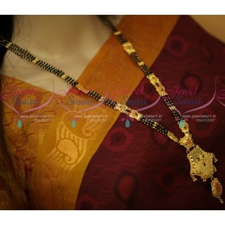 NL11039 Long Mangalsutra 26 Inches 100 Mg Forming Gold Plated Collections Online