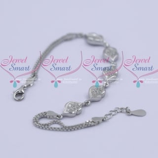 B11987 92.5 Silver Flexible Bracelet Daily Wear Jewellery Collections Shop Online