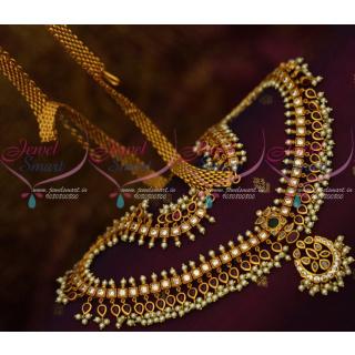 H13264 Gutta Pusalu Original Kemp Pearl Hip Chain Traditional Bridal Jewellery Shop Online