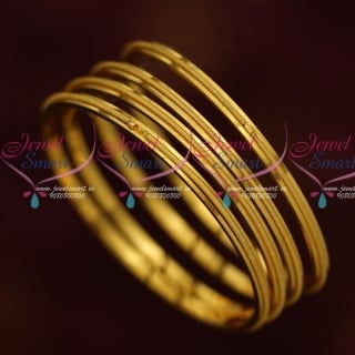 B13892 Thin 4 Pieces Set Gold Plated Kids Jewellery Daily Wear Bangles Shop Online