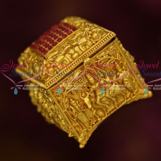 S13894 Lord Shiva Family God Design Sindoor Box Square Shape One Gram Gold Plated Online