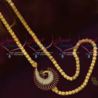 C16028 AD Mugappu Kerala Style Chains Latest Gold Covering Jewellery South Indian Online