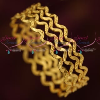 B16605 Daily Wear 4 Pcs Set Twisted Design Bangles Fancy Gold Covering Online