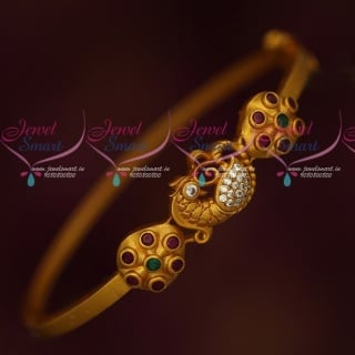 B18088 Bracelets Matching Matte Reddish Gold Plated Jewellery Latest Designs