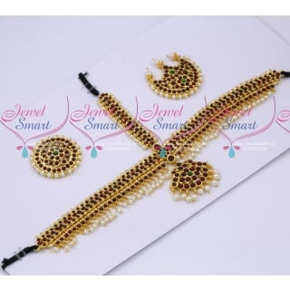T18989 Low Price Kemp Bridal Damini Hair Jewellery Classical Dance Imitation Collections