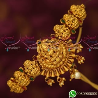 V19445 Antique Vanki Designs Gold Plated Temple Jewellery Bridal Collections Online