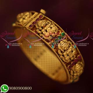 B19312 Handmade Nagas Premium Gold FInish Screw Open Kada Bangle Single Piece