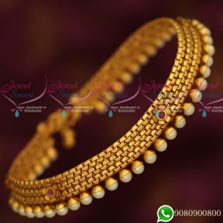 A6551 Antique Pearl Fancy Payal Anklet Leg Chain Fashion Jewellery Online