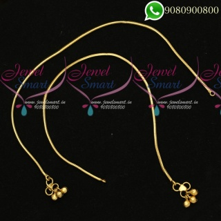 Anklets Kodi Model Gold Plated South Indian Jewellery Designs P19838