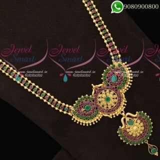 Long Necklace For Wedding Traditional Designs Online NL19735