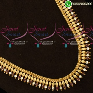 Long Necklace Gold Plated Jewellery Designs NL19915
