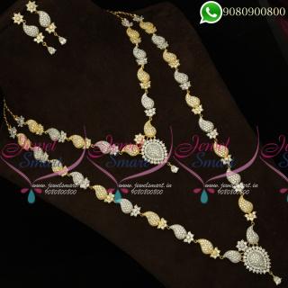 Bridal Jewellery Set Short Long Mango Necklace NL19916