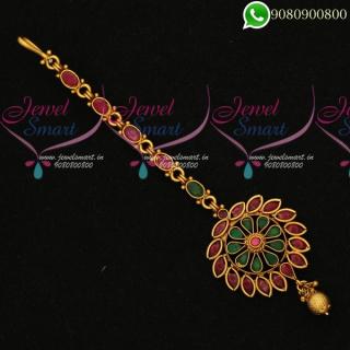Maang Tikka Bridal Jewellery Accessory Online T19884