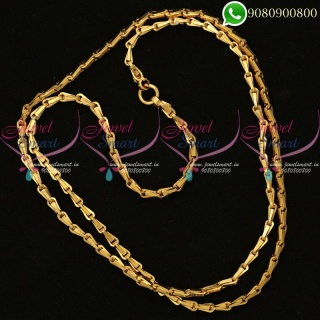 Godhumai Chain Design Gold Plated 30 Inches Chain Online C20030