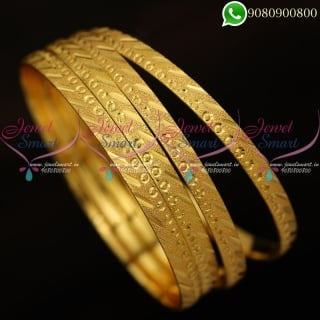 Gold Design Bangles 4 Pcs Set Regular Wear Imitation Jewellery B20147