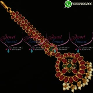 Maang Tikka Kemp Stones Traditional Bridal Jewellery Designs M20166