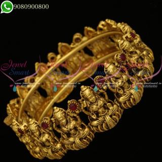 Temple Jewellery Nagas Laxmi God Design Kada Bangle Antique Screw B20198
