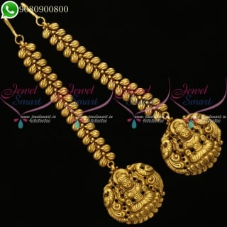 Temple Jewellery Mattal Kan Chain Nagas Traditional Antique Designs Online EC20203