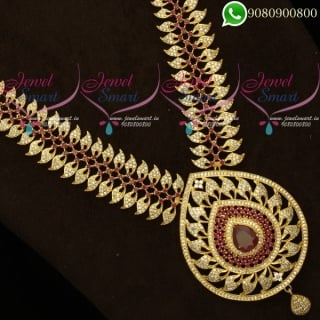 Bridal Jewellery Long Necklace Mango Traditional Gold Plated Haram Online NL20353