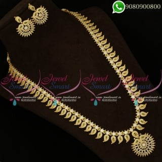 Bridal Long Necklace Haram Collections Traditional South Indian Jewellery NL20352