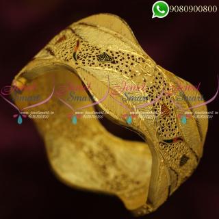 Forming Gold Jewellery Kada Bangles Latest Real Look Imitation Designs Online B20362