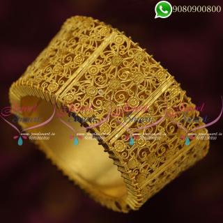 Forming Gold One Gram Bridal Bangles Latest Imitation Jewellery B20369