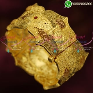 Forming Gold Jewellery Kada Bangles Latest Real Look Imitation Designs Online B20364