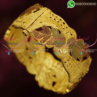 Forming One Gram Gold Jewellery Kada Bangles Enamel Meenakari B20363