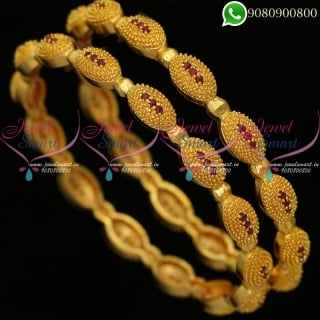 Gold Plated Bangles Guaranteed Colour Daily Wear Jewellery B20298