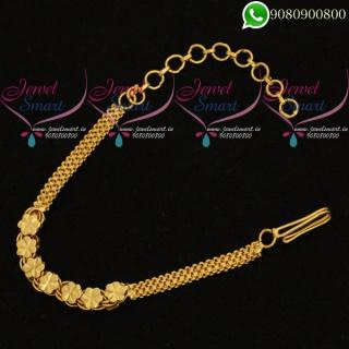Simple Design Chain Adjustable Bracelet Low Price Daily Wear Jewellery Online B20382