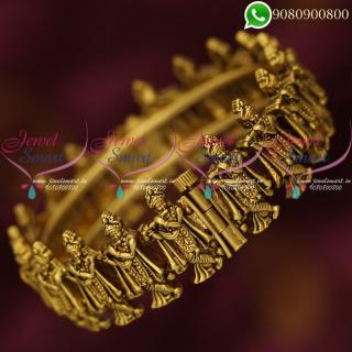 Temple Jewellery Lord Krishna Design Bangles Screw Open Kada Online B20361