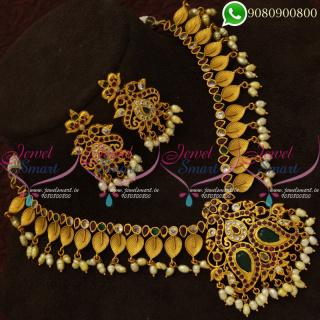 Guttapusalu Pearl Imitation Jewellery Traditional Gold Designs Online NL20733