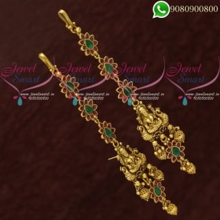 Temple Jewellery Ear Chain Mattal Nagas Traditional Bridal Designs EC20725
