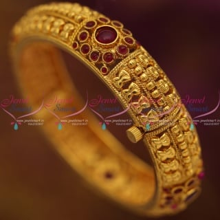 B6827 Reddish Kemp Screw Open Bangle Kada Latest Handmade Jewellery Online