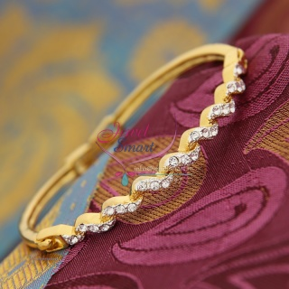 BA3380 22ct Gold Plated Bracelets Open Type Indian Fashion Jewelry Online