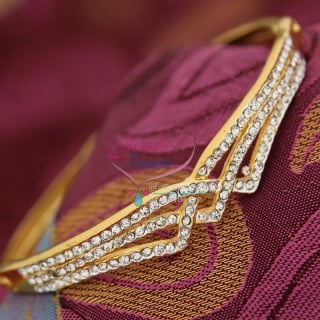 BA9335 22ct Gold Plated Bracelets Open Type Indian Fashion Jewelry Online