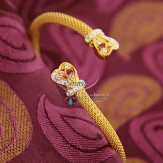 BA9472 22ct Gold Plated Bracelets Open Type Indian Fashion Jewelry Online