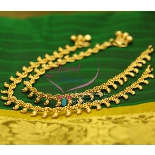 A2431 Gold Plated Fancy Design Imitation Payal Leg Chain Anklet Traditional Jewelry