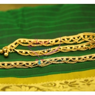 A2437 Fancy Design Imitation Payal Leg Chain Anklet Traditional Five Metal Jewellery