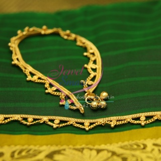 A2438 Fancy Design Imitation Payal Leg Chain Anklet Traditional Five Metal Jewellery