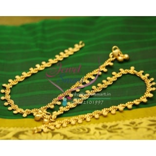 A2439 Fancy Design Imitation Payal Leg Chain Anklet Traditional Five Metal Jewellery