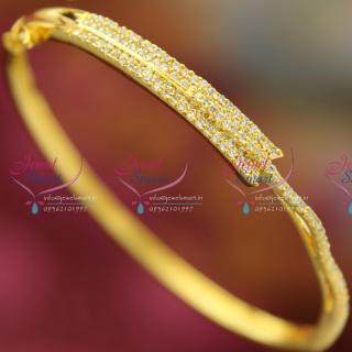 B2503 CZ Exclusive Offer Thin Delicate Open Kada Diamond Design Jewellery Online