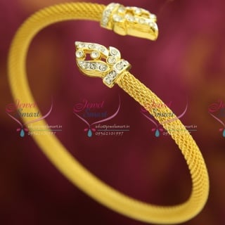 BA9473 22ct Gold Plated Bracelets Open Type Indian Fashion Jewelry Online
